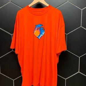 New! Pink Dolphin Wave Tour Orange T-Shirt Size 2X